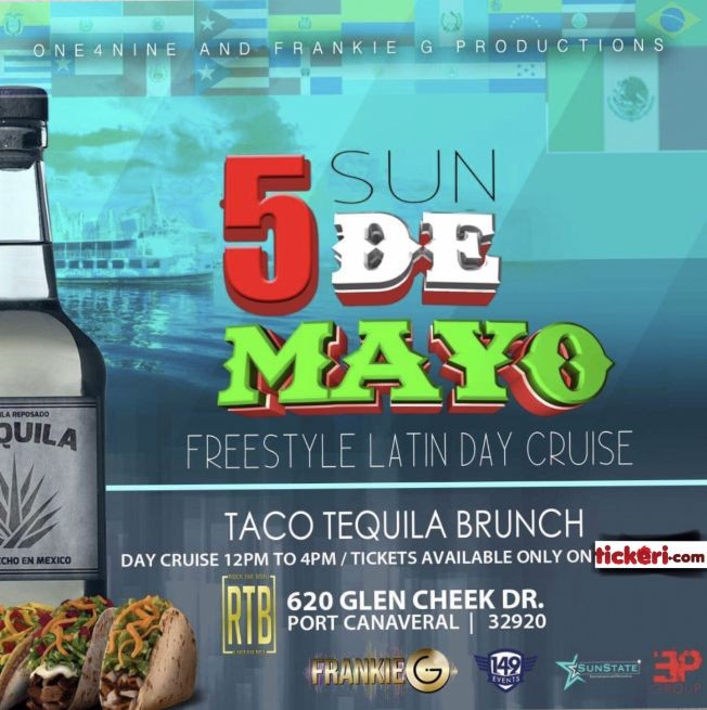 Flyer for Cinco de Mayo Freestyle Latin Day Cruise