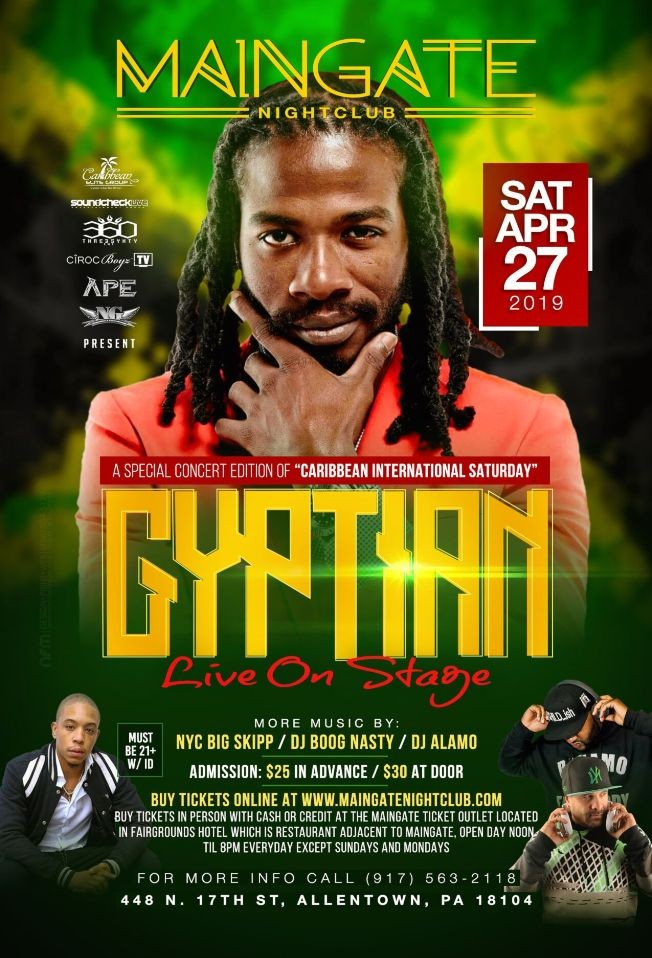Flyer for Gyptian Live