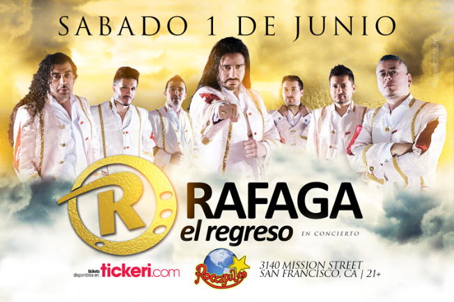Flyer for RAFAGA EN SAN FRANCISCO