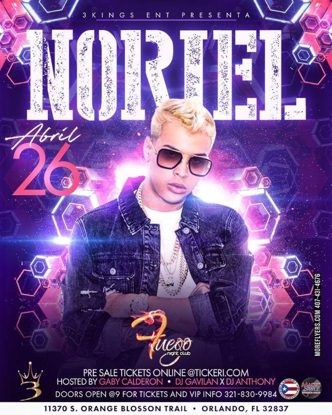 Flyer for Noriel live in concert