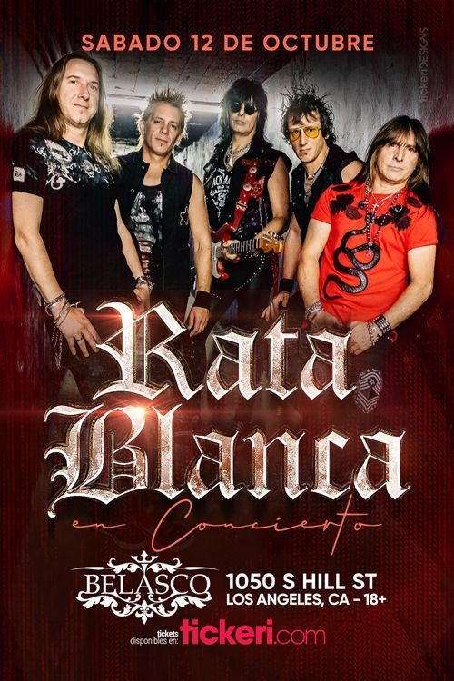 Flyer for RATA BLANCA EN LOS ANGELES