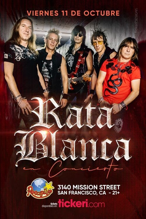 Flyer for RATA BLANCA EN SAN FRANCISCO