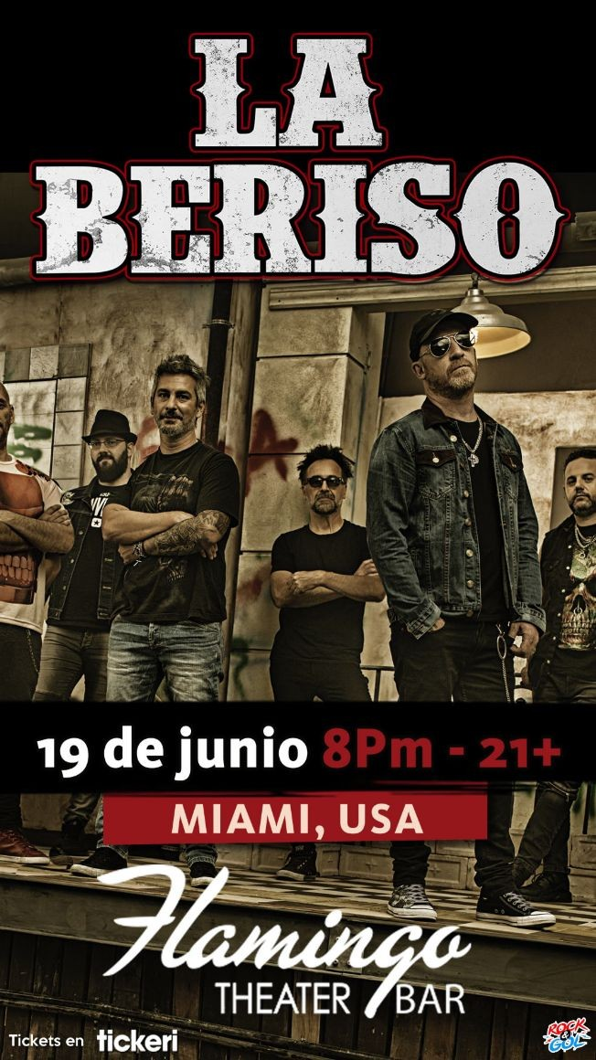 Flyer for LA BERISO EN MIAMI