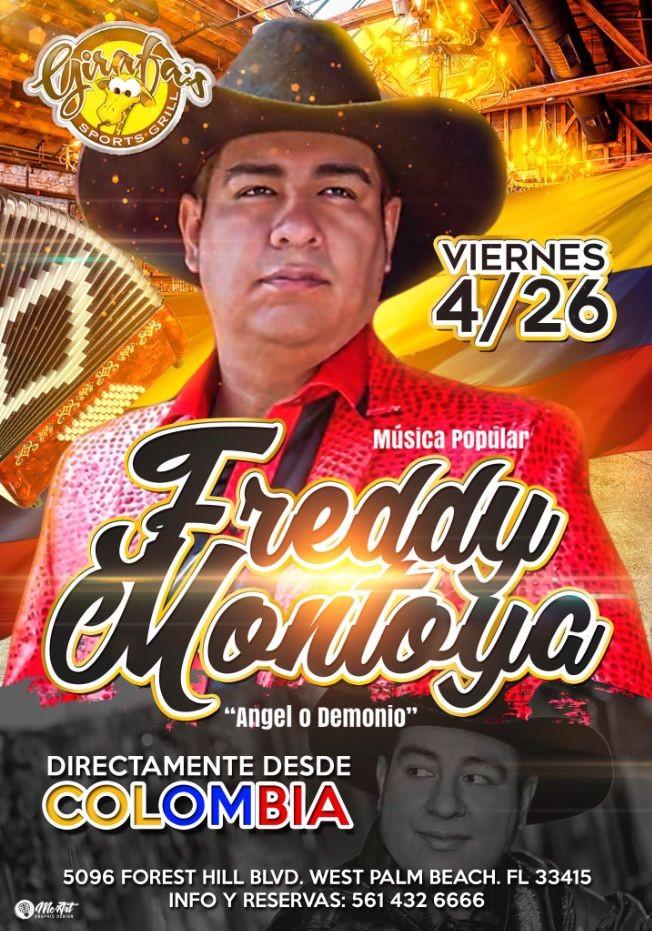 Flyer for MUSICA POPULAR: FREDY MONTOYA en Concierto !!
