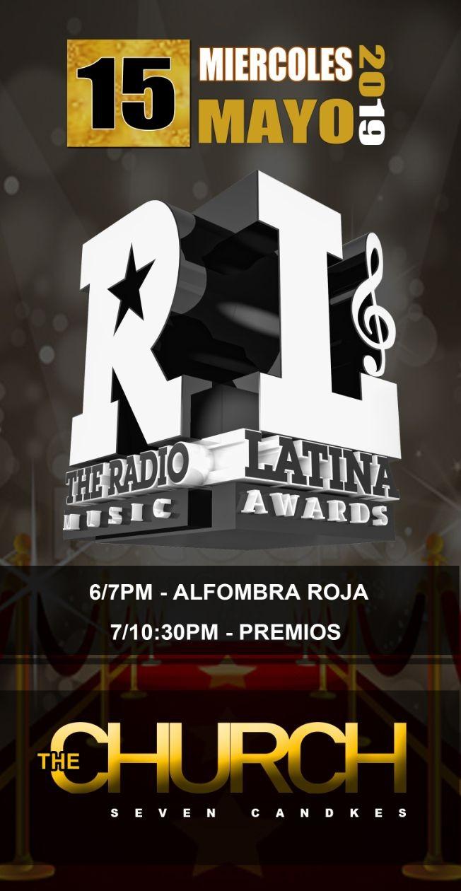 Flyer for The Radio Latina Music Awards 2019