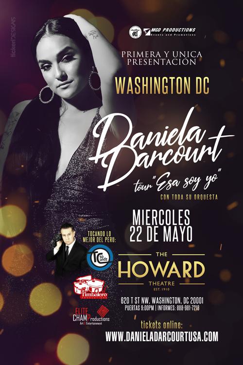 Flyer for Daniela Darcourt