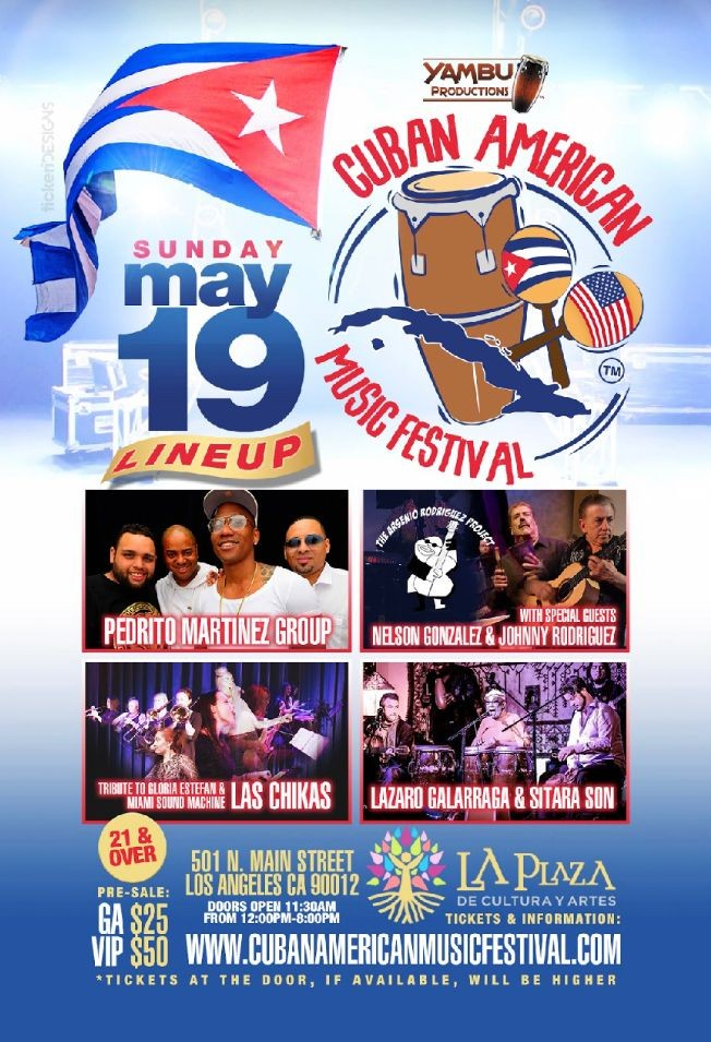 Flyer for Cuban American Music Festival 2019 NEW DATE DUE TO WEATHER