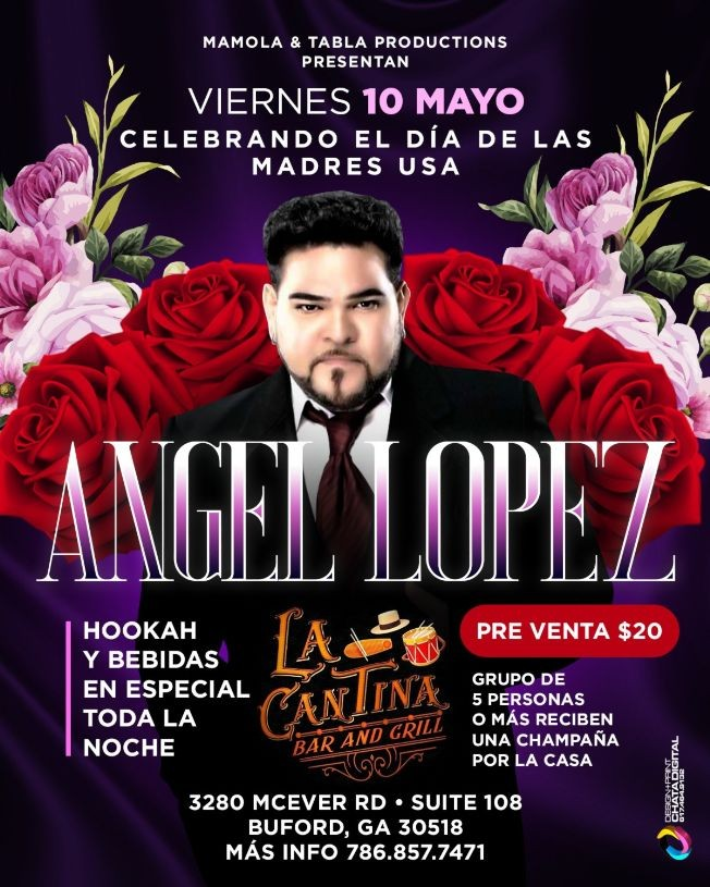 Flyer for ANGEL LOPEZ  EN ATLANTA