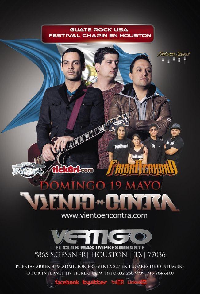 Flyer for Viento N Contra en Houston,TX