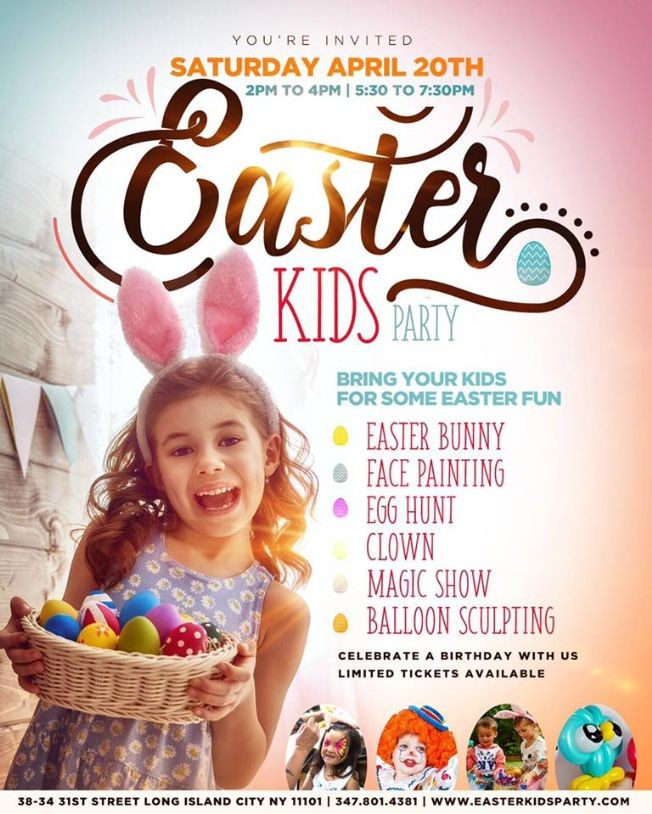 Flyer for Easter Kids Party