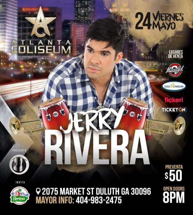 Flyer for JERRY RIVERA
