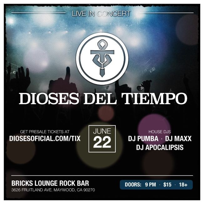 Flyer for Dioses del Tiempo en Vivo