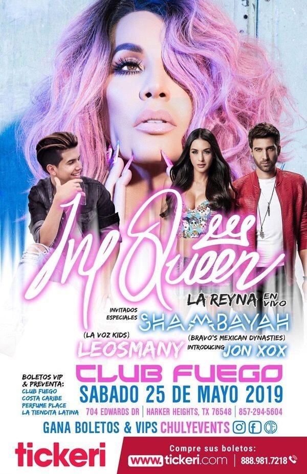 Flyer for Ivy Queen, Shambayah y Mucho Mas en Concierto en Harker Heights,TX