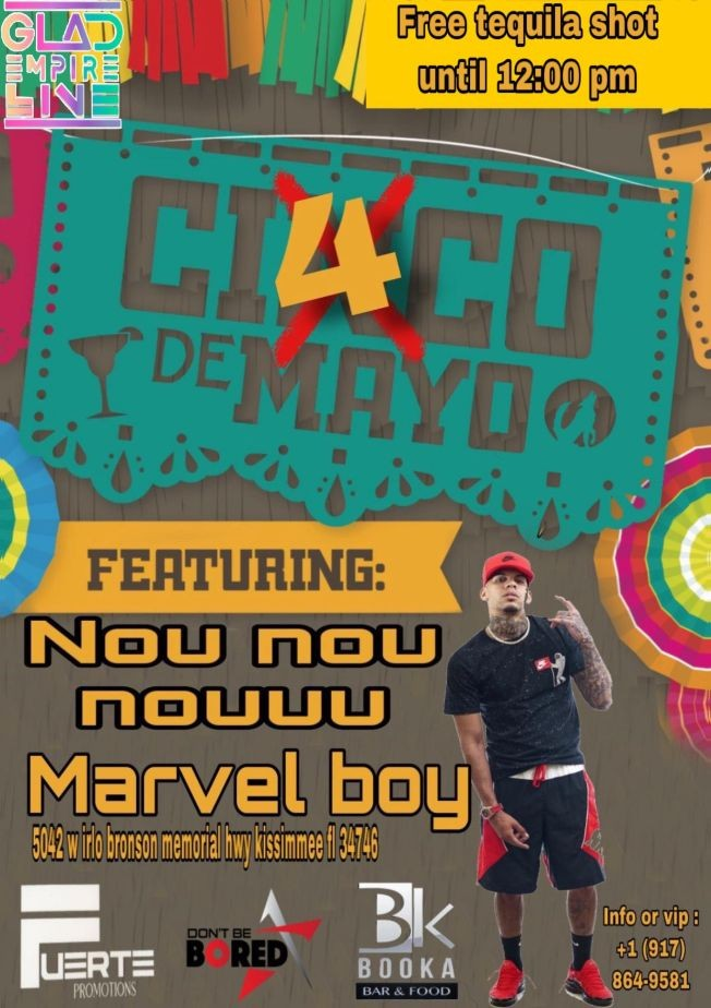 Flyer for Marvel boy booka bar
