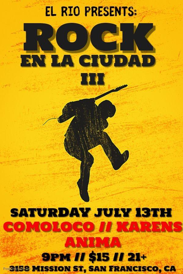 Flyer for ROCK EN LA CIUDAD III