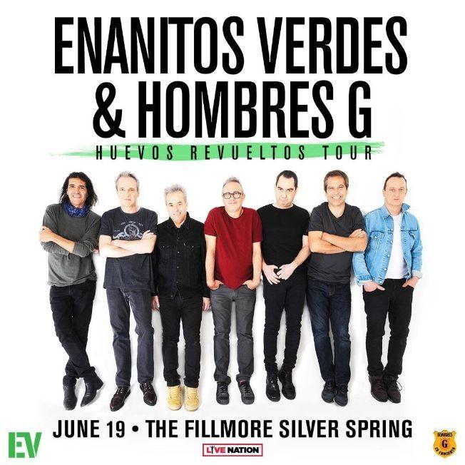 Flyer for Enanitos Verdes & Hombres G