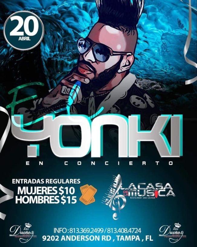 Flyer for El Yonki en concierto en la casa de la musica