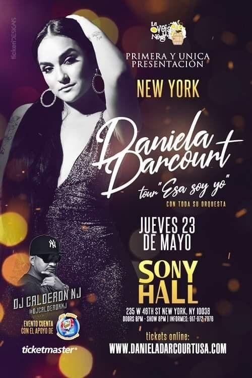 Flyer for Daniela Darcourt en New York