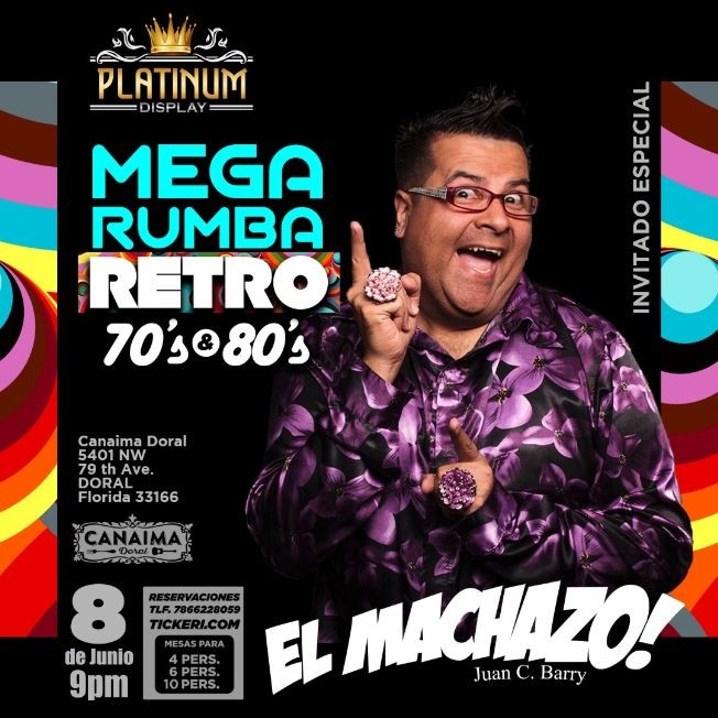 Flyer for Mega Rumba Retro 70 & 80
