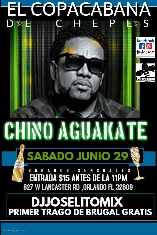 Flyer for Chino AGUAKATE