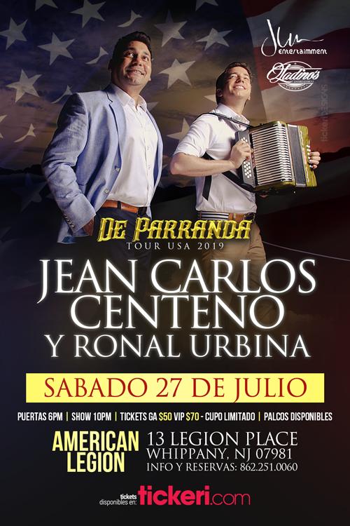 Flyer for JEAN CARLOS CENTENO