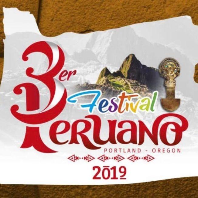 Flyer for Festival Peruano Portland Oregon