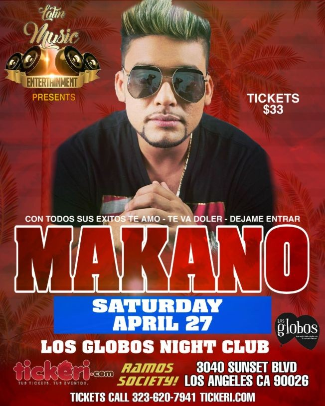 Flyer for MAKANO LOS ANGELES