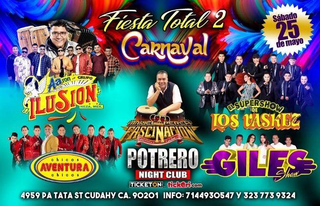 Flyer for FIESTA TOTAL 2/CARNAVAL EN LOS ANGELES