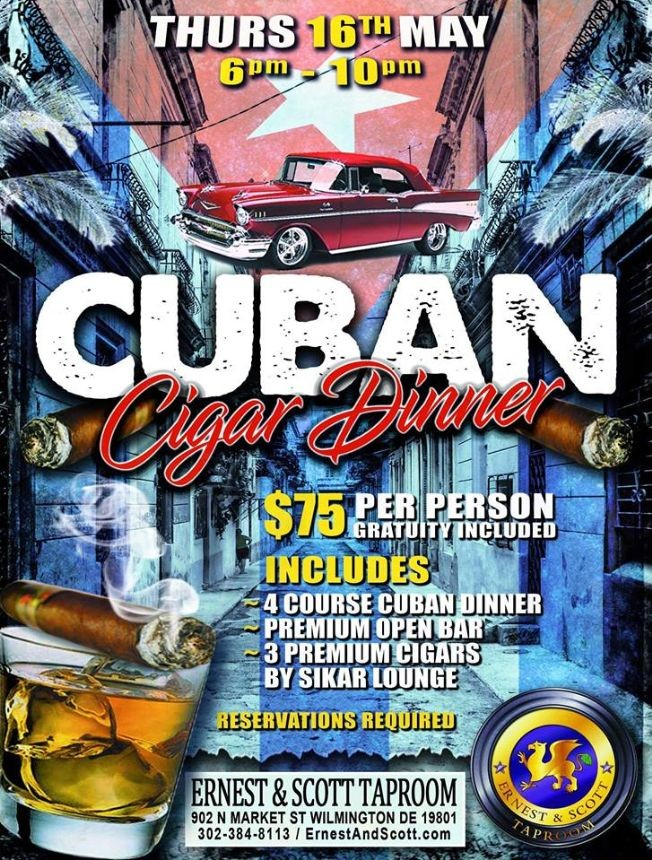 Flyer for Cuban Cigar Dinner