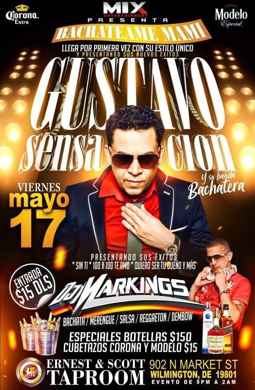 Flyer for Gustavo Sensacion Y Su Banda Bachatera