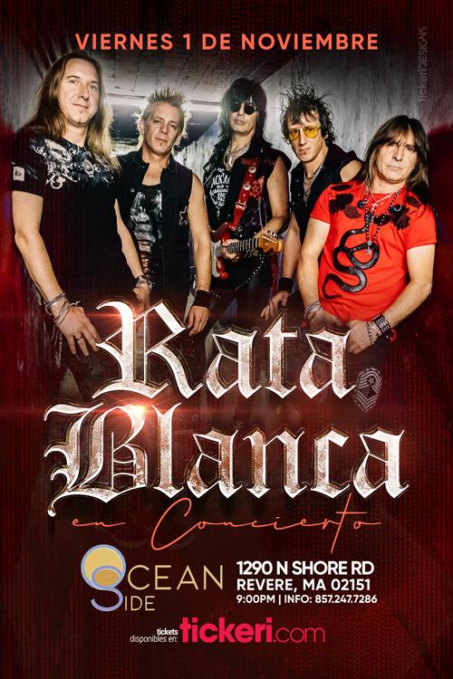 Flyer for RATA BLANCA EN BOSTON