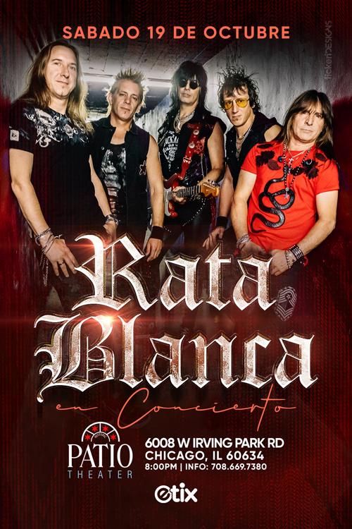 Flyer for RATA BLANCA EN CHICAGO