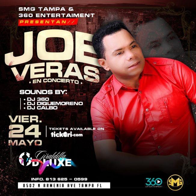 Flyer for Joe Veras en concierto @ La Giraldilla Dluxe