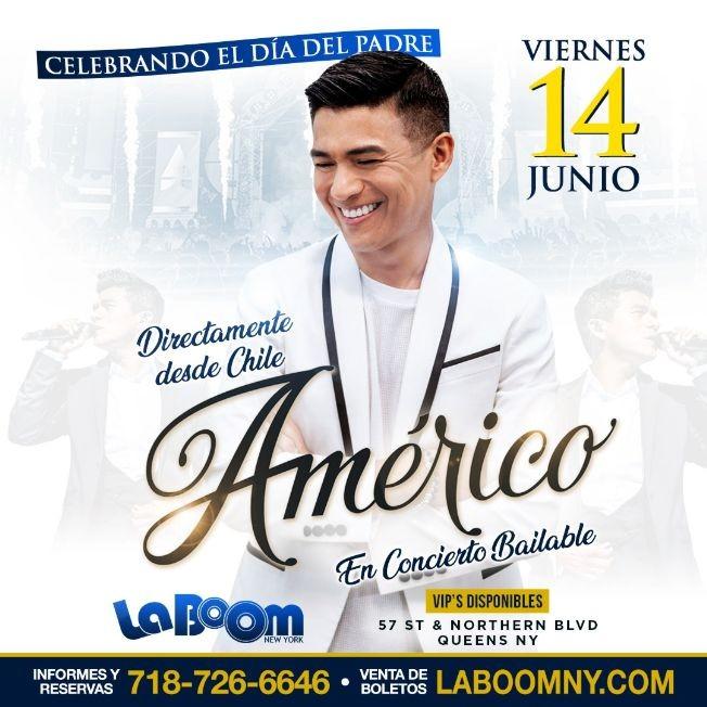 Flyer for Americo en New York CANCELADO