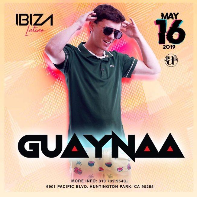 Flyer for Guaynaa en Concierto en Huntington Park,CA