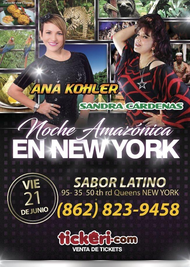 Flyer for Ana Kohler y Sandra Cardenas en Concierto en Queens,NY