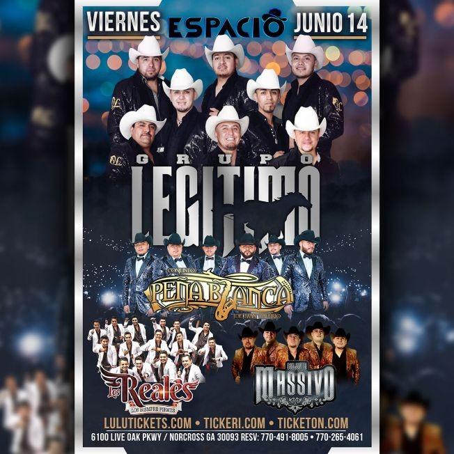 Flyer for Conjunto Legitimo en Concierto