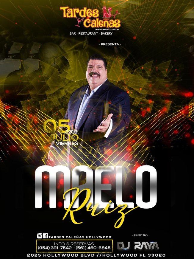 Flyer for SUPER CONCIERTO VIP MAELO RUIZ