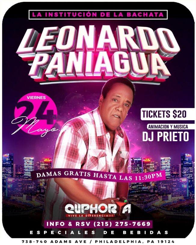 Flyer for Leonardo Paniagua en Concierto en Philadelphia,PA