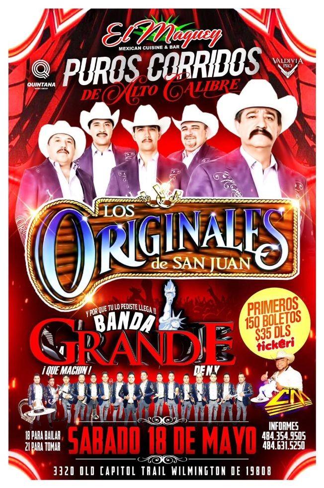 Flyer for LOS ORIGINALES DE SAN JUAN LA GRANDE DE NY