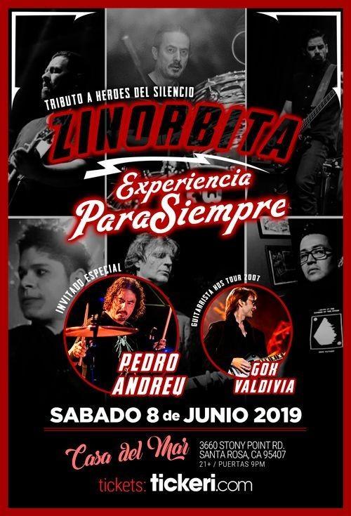 Flyer for HEROES DEL SILENCIO EL TRIBUTO EN SANTA ROSA