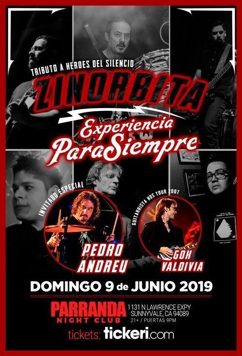 Flyer for HEROES DEL SILENCIO EL TRIBUTO EN SAN JOSE