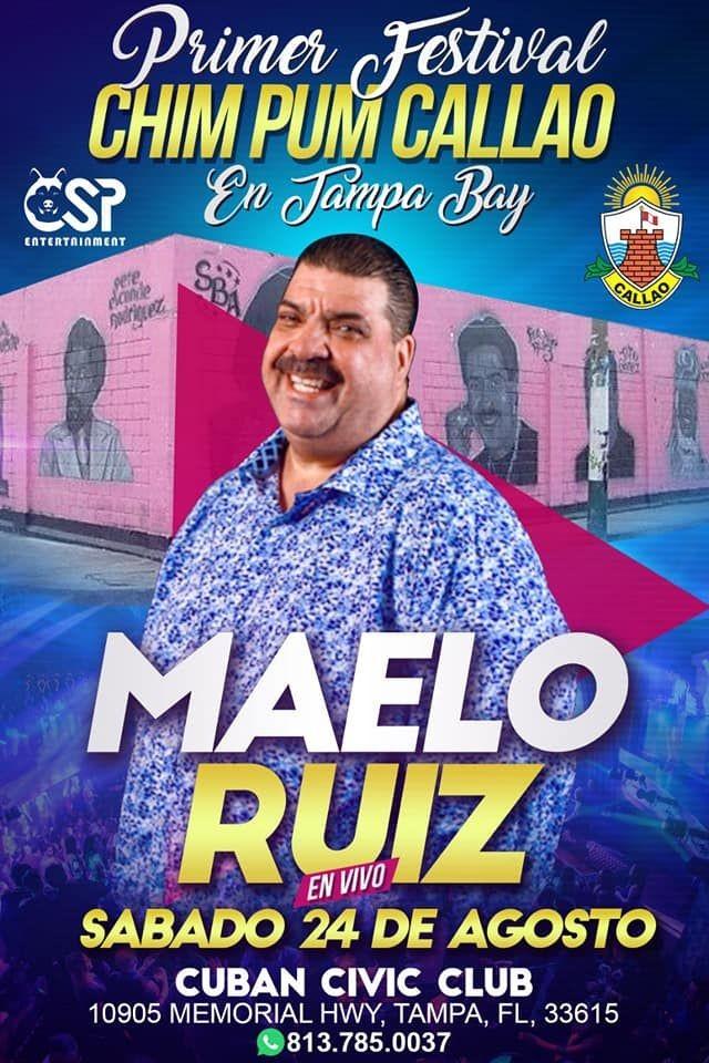 Flyer for Maelo Ruiz en Tampa