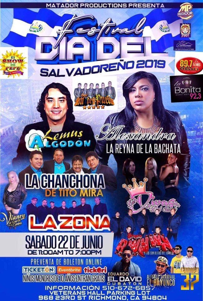 Flyer for Lemus Algodon,Alexandra,La Chanchona y Mucho Mas en Concierto en Richmond,CA
