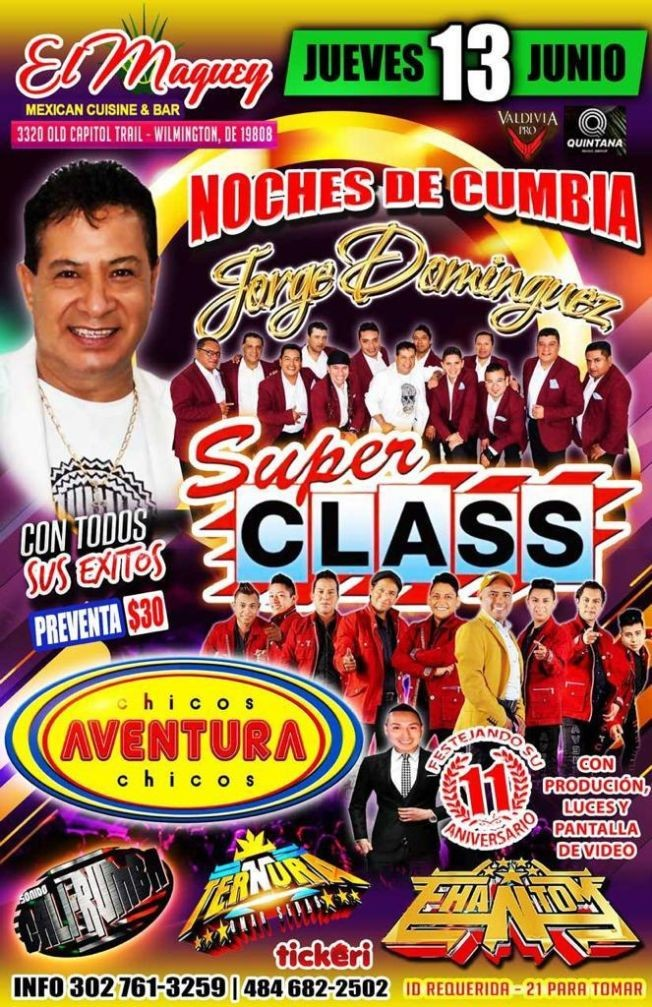 Flyer for JORGE DOMINGUEZ SUPER CLASS Y CHICOS AVENTURA EN MAGUEY