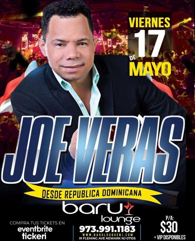 Flyer for JOE VERA EN VIVO EN BARU LOUNGE NEW JERSEY