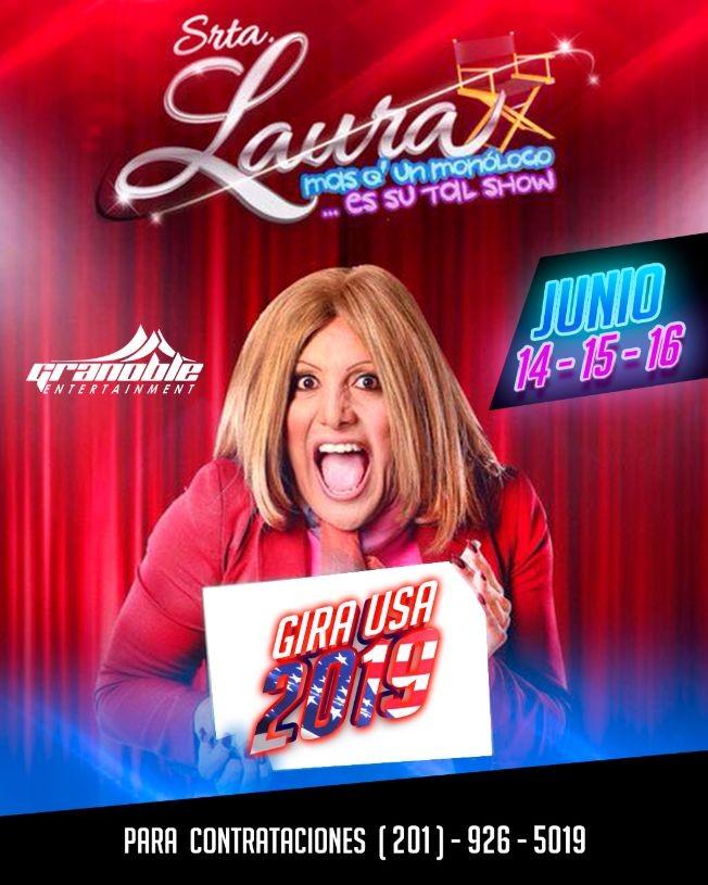 """Flyer for 2 Divas Del Humor Juntas Por Primera Vez """" La Vecina y La Srta. Laura """""""