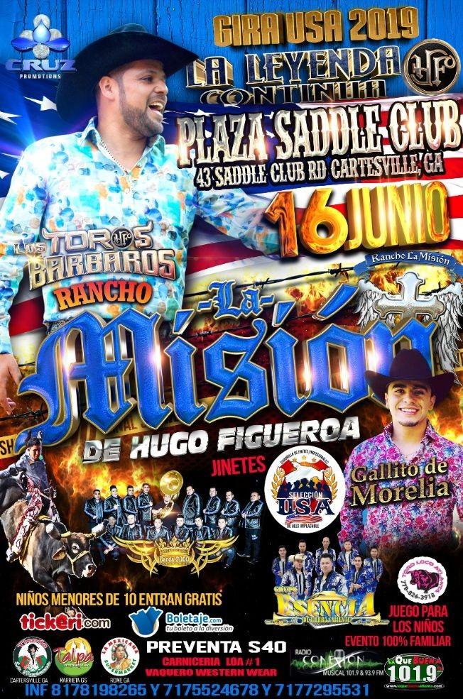 Flyer for La Mision de Hugo Figueroa y Mas en Concierto