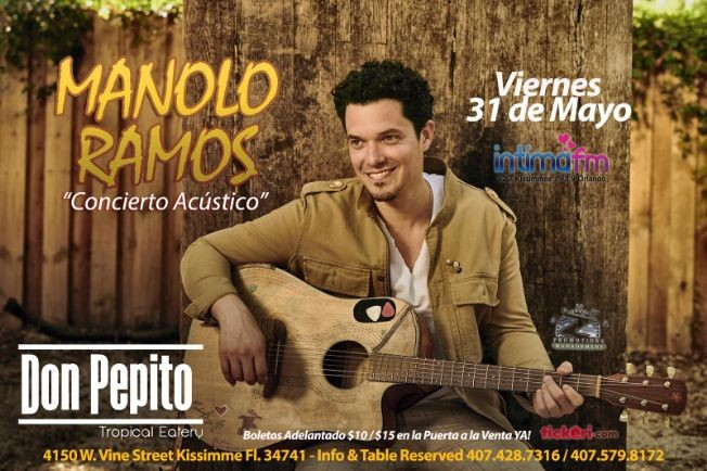 Flyer for MANOLO RAMOS