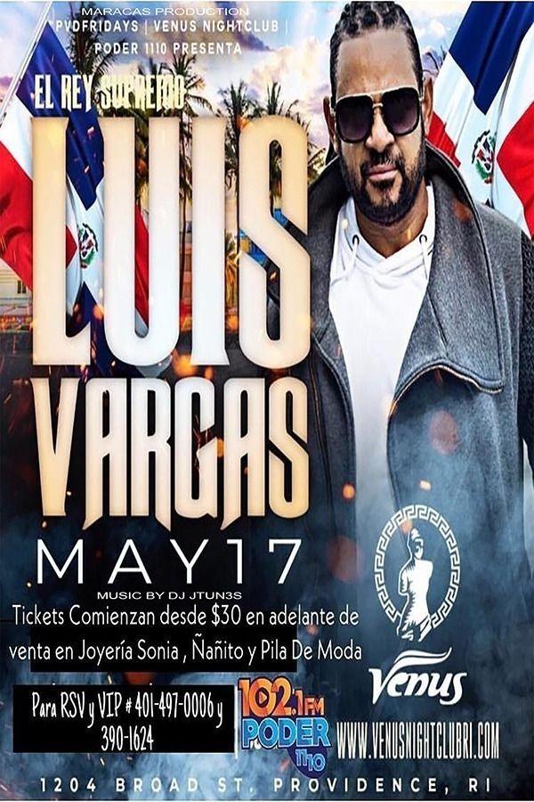 Flyer for El Rey Supremo Luis Vargas en Concierto en Providence,RI